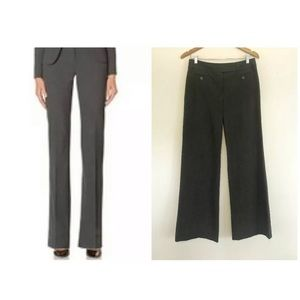 LOFT ANN FIT CHARCOAL GRAY STRETCH TROUSERS